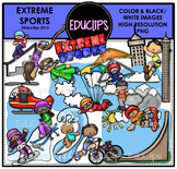 Extreme Sports Clip Art Bundle