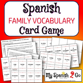 FAMILY:  A Card Game with Family Vocbulary in Spanish