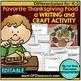 FAVORITE THANKSGIVING FOOD graph & writing activities