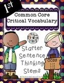 POLKA DOT VERSION Critical Vocabulary Thinking Stems Grades 1-8