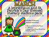 March Literacy Stations Mini Packet