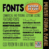 FONTS:  MEGA PACK Commercial Use License (All KB3Teach Fon