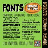FONTS MEGA PACK Commercial Use License (All KB3Teach Fonts