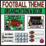 FOOTBALL THEME/ CLASSROOM Management/BOOKMARKS/CALENDAR /CUBBYSET
