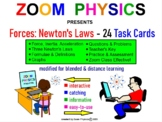 FORCES: NEWTON'S LAWS 20 Task Cards with Key, 60 problems,