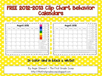 {FREE} 2012-2013 Clip Chart Behavior Charts for Parent Com