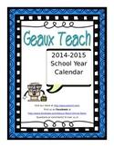 FREE 2014-2015 School Year Planning Calendar