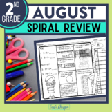 FREE 2ND GRADE Homework Morning Work for MATH - BACK TO SC