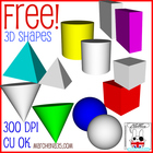 FREE! 3D Shape Clip Art Images - Commercial Use OK