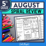 FREE 5TH GRADE Homework Morning Work for MATH - BACK TO SC