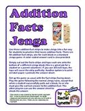 FREE Addition Facts Jenga