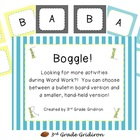 FREE Boggle Set!  (Bulletin Board or Hand-Held Grids)