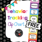Behavior Clip Chart - Classroom Management - FREE! - Cute