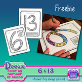 FREE Color By Number Activities (Doodle)