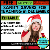 FREE DECEMBER TIPS AND ACTIVITIES