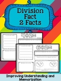 FREE Division Facts Booklet {Divisor of 2}