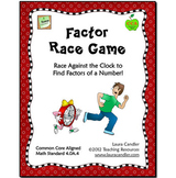 Factors - Free Factor Race Math Game
