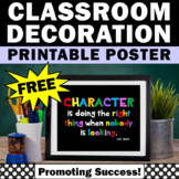 School Counseling Character Education FREE Poster Classroo