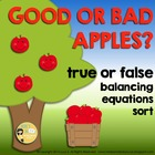 Apples FREE Sorting True and False Equations - Addition &