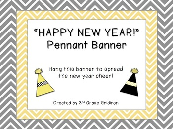 "FREE ""HAPPY NEW YEAR!"" Chevron Pennant Banner"