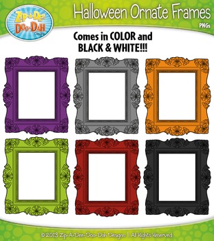FREE Halloween Ornate Frames Clip Art — Includes 7 Graphics!