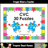 FREE Literacy Center--30 CVC Puzzles (2 piece puzzles)