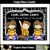FREE Literacy Resource--Look,Listen,Learn Long E Vowel Tea
