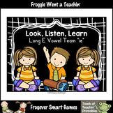 FREE Literacy Teaching Resource--Look Listen, Learn Long E