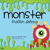 FREE Monster Problem Solving Math Center