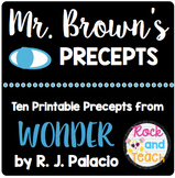 FREE!! Mr. Brown's Precepts from Wonder by R. J. Palacio