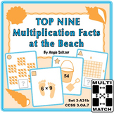 FREE Multi-Match Game Cards: Top Nine Multiplication Facts