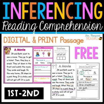 FREE - My First Making Inferences - Close Reading