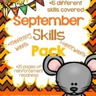 FREE *NO PREP* September Learning Skills Packet
