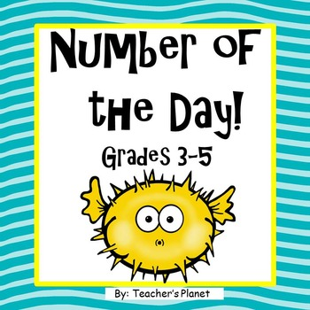 FREE Number of the Day! Grades 3-5