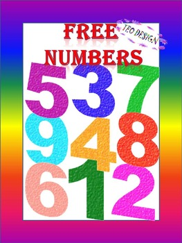 FREE Glitter Numbers - Clip Art- Personal or Commercial Use