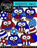 Patriotic Owls {Creative Clips Digital Clipart}