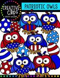 Patriotic Owls {Creative Clips Digital Clipart}