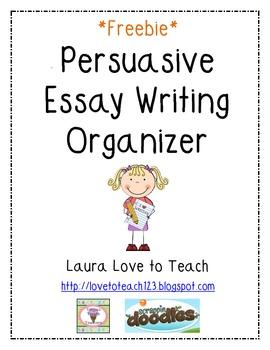 Persuasive Writing Map Graphic Organizer