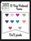 FREE Pinterest Icons: Heart Shaped Clip Art