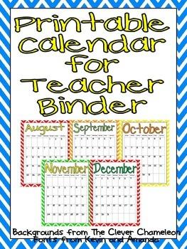 FREE Printable Calendar 2014-2015