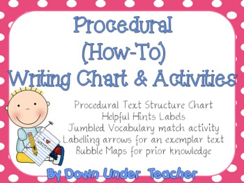 FREE Procedural How-To Writing Chart and Activities