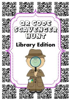 FREE QR Code Scavenger Hunt Library Edition for Book Week