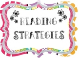 Reading Strategies Poster Pack