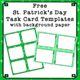 FREE St Patrick's Day Task Card Frames with Background Papers