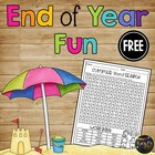 FREE- Summer Word Search Beach Theme