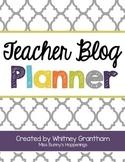 FREE Teacher Blog Planner