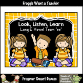 FREE Literacy Resource--Look,Listen,Learn 4 More Long E Vo