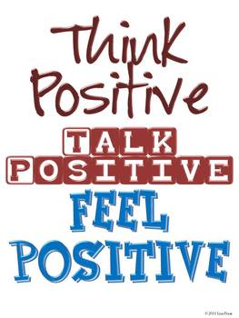 FREE Think Positive Poster