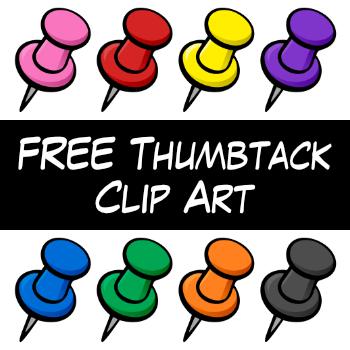 FREE Thumbtack Clipart