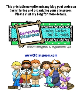 FREE To Do List for Organizing & Cleaning Your Classroom